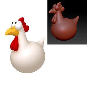 3D model chicken cartoon