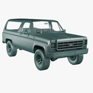 3D Chevrolet K5 blazer model