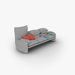 3D maralunga sofa cassina model