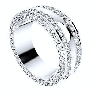 ring set women men 3D