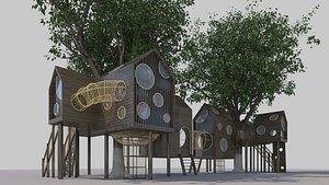 3D Wooden house20210816