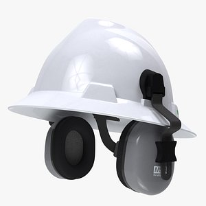 3D Safety Helmet with Earmuffs model