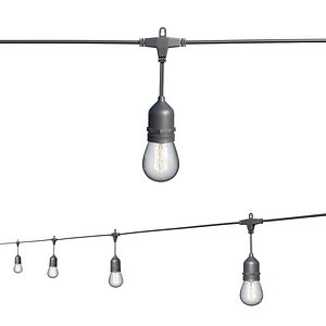 String Lights Edison Lamps model