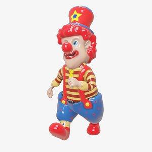 3D clown plastic funny