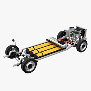 Hydrogen Fuel Cell Van Chassis 3D