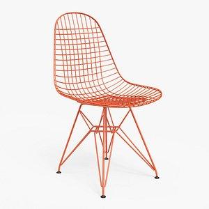 Wire Chair DKR Orange - PBR 3D