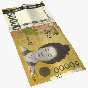 Korea Republic Won KRW 50000 Banknote model