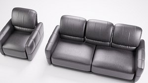 3D marino sofa set single and 3 seater set