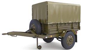 Cover Military Cargo Trailer 34 3D model