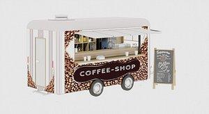 3D coffee food truck model