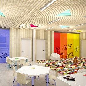 kindergarten interior 3d model