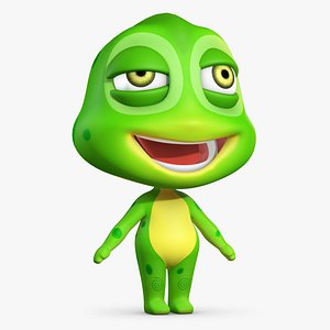 3D model cartoon animation character