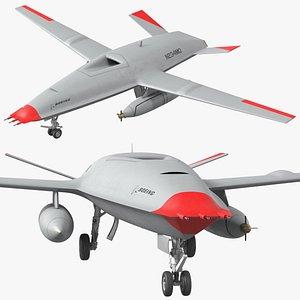 mq25 stingray aerial refueling 3D model