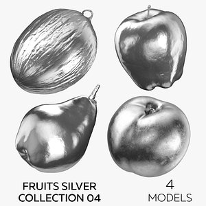 Fruits Silver Collection 04 - 4 models 3D