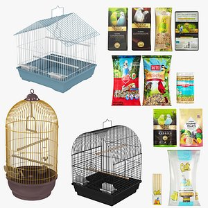 Bird Food and Cage Collection model