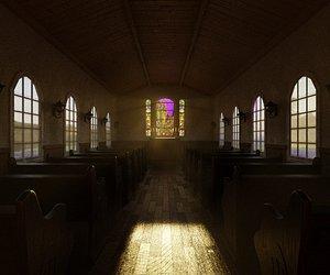3D Church Interior model
