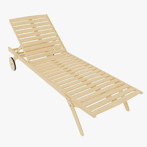 3D sunbed wooden