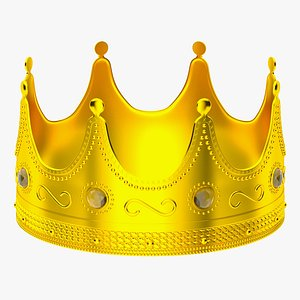 Gold Royal Crown 3D model