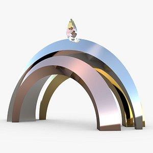 3D Arch Metal Modern Future Design