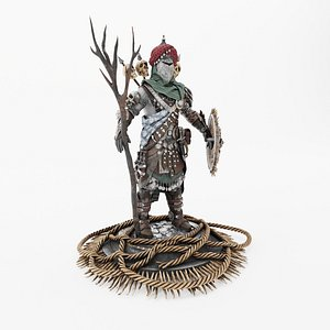3D warrior man character