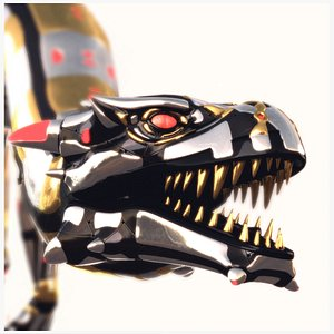 High Tech Machine Creature PBR Rigged 3D