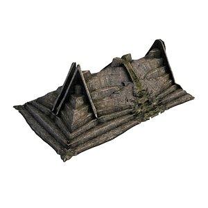 3D Pyramid Temple Wall 03 01 model