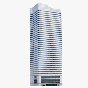 3D First Canadian Place V11 lowpoly model