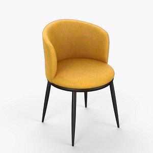 Eisner Guest Chair yellow finish 3D model