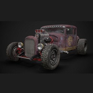 3D model fictional hot rod