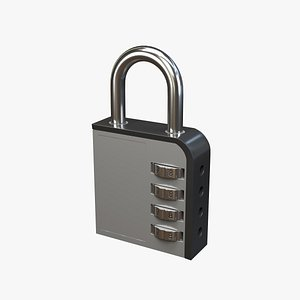 3D combination lock model