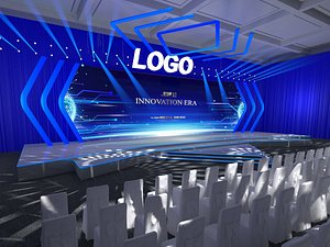 Stage truss meeting hall event T station show concert 3D