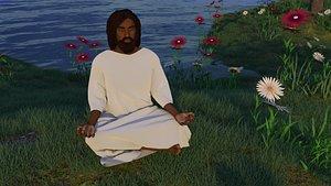 3D Black Yeshua  Jesus Christ v2