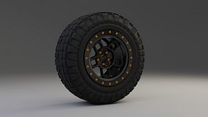 3D offroad wheel