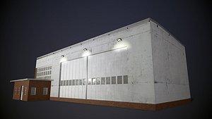 Burton Airport Building 3D model
