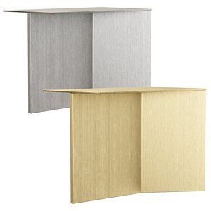 table steel gold 3D