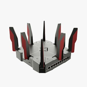 3D model router wi-fi