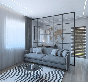 Luxurious guest room 3D model