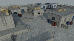 Lowpoly FPS Modular Map Kit model