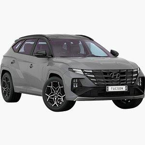 3D model Hyundai Tucson N-Line 2021 Low Interior
