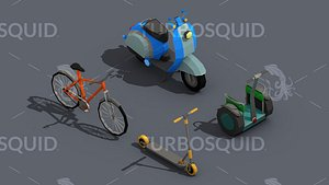 Low Poly Transport Person Isometric model