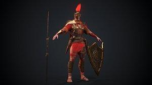 3D Gladiator Prime Low-poly