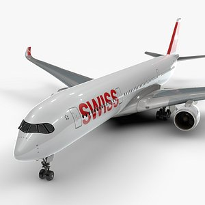 3D a350-900 swissair l1111 model
