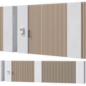 3D model 044 Modern Fence 02