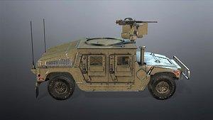 3D Military Humvee Sand Tank model