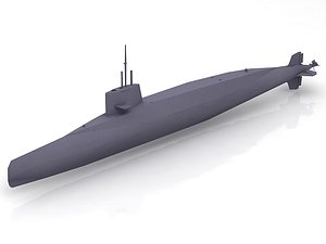 3D model French Sub Le Redoutable