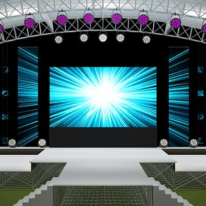 3D Concert Event Stage