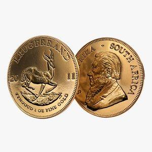 3D model Krugerrand Gold coin