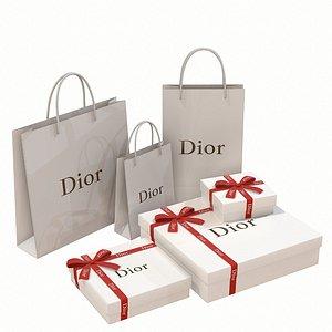 3D dior box gift