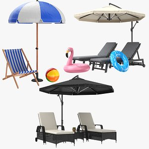 sun lounge lounger 3D