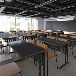 3D model class classroom